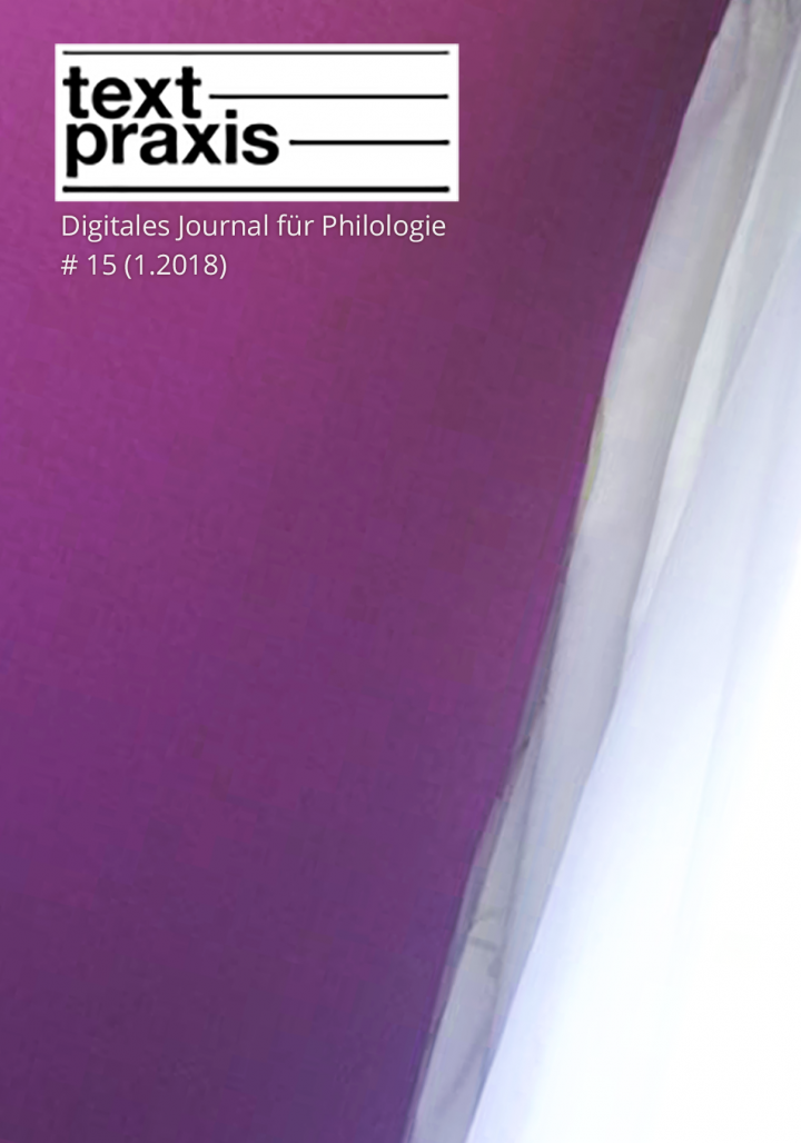 Textpraxis #15 Cover