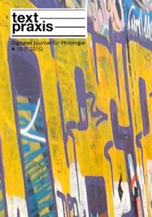 Textpraxis # 10 Cover