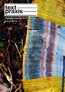 Textpraxis # 3 Cover